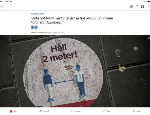 Debattinlägg i Dagens nyheter.
